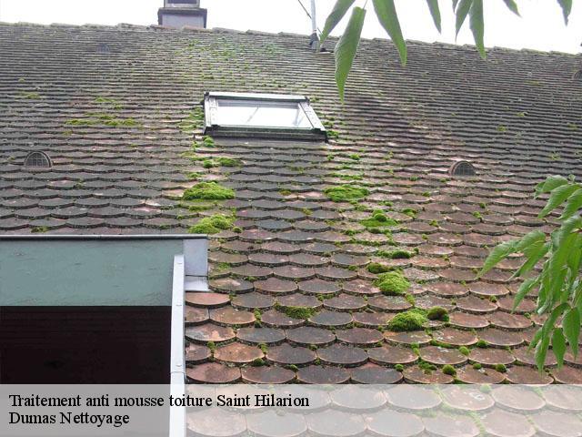 Traitement anti mousse toiture Saint Hilarion tél: 01.85.53.56.91